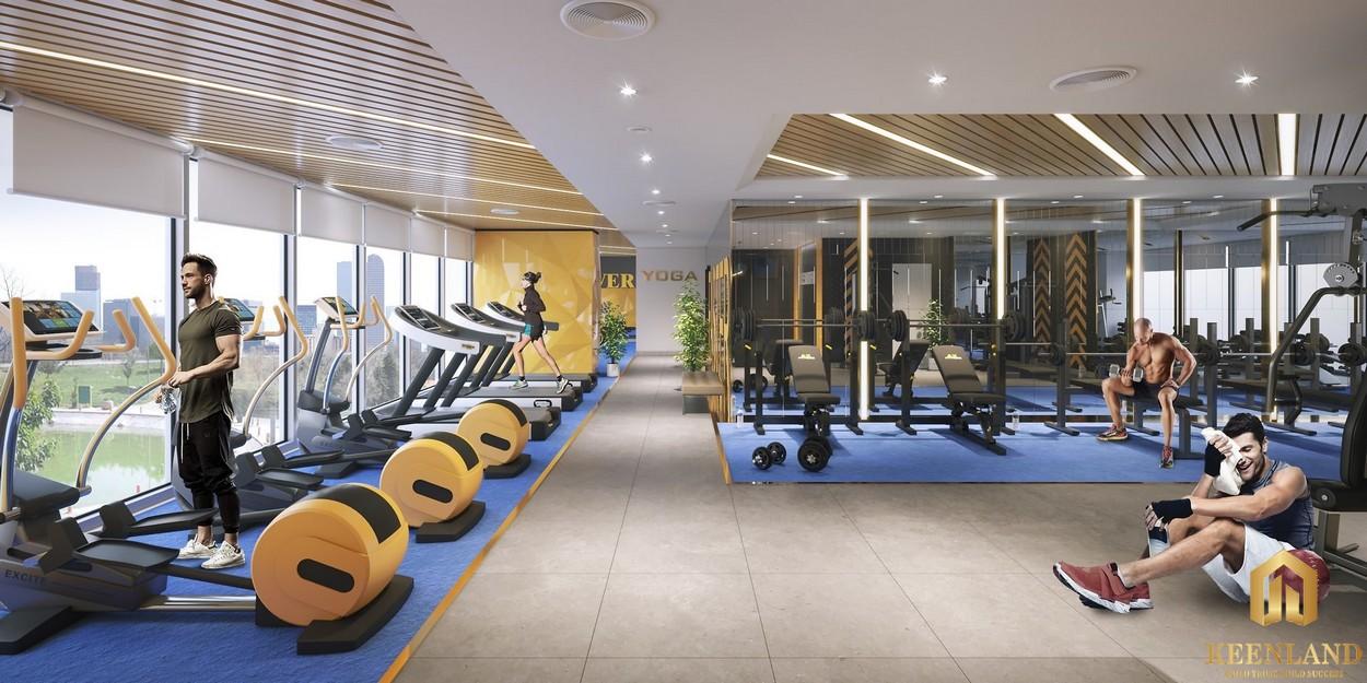 Phòng tập Gym với các thiết bị hoàn toàn mới