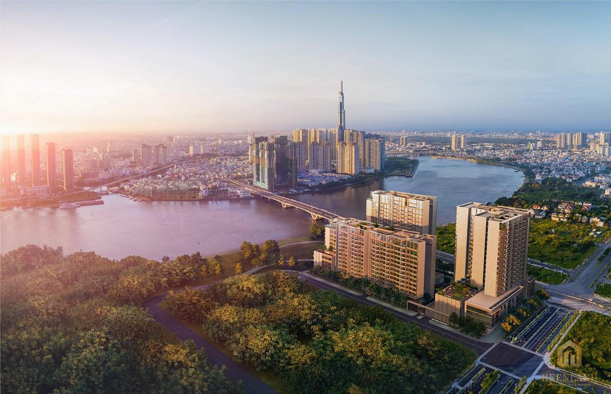 Phối cảnh tổng thể dự án chung cư căn hộ The River Thủ Thiêm Quận 2