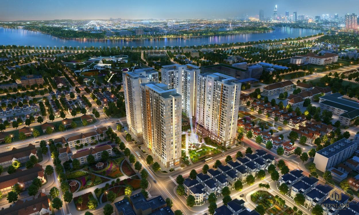 Phối cảnh tổng thể dự án căn hộ Victoria Village