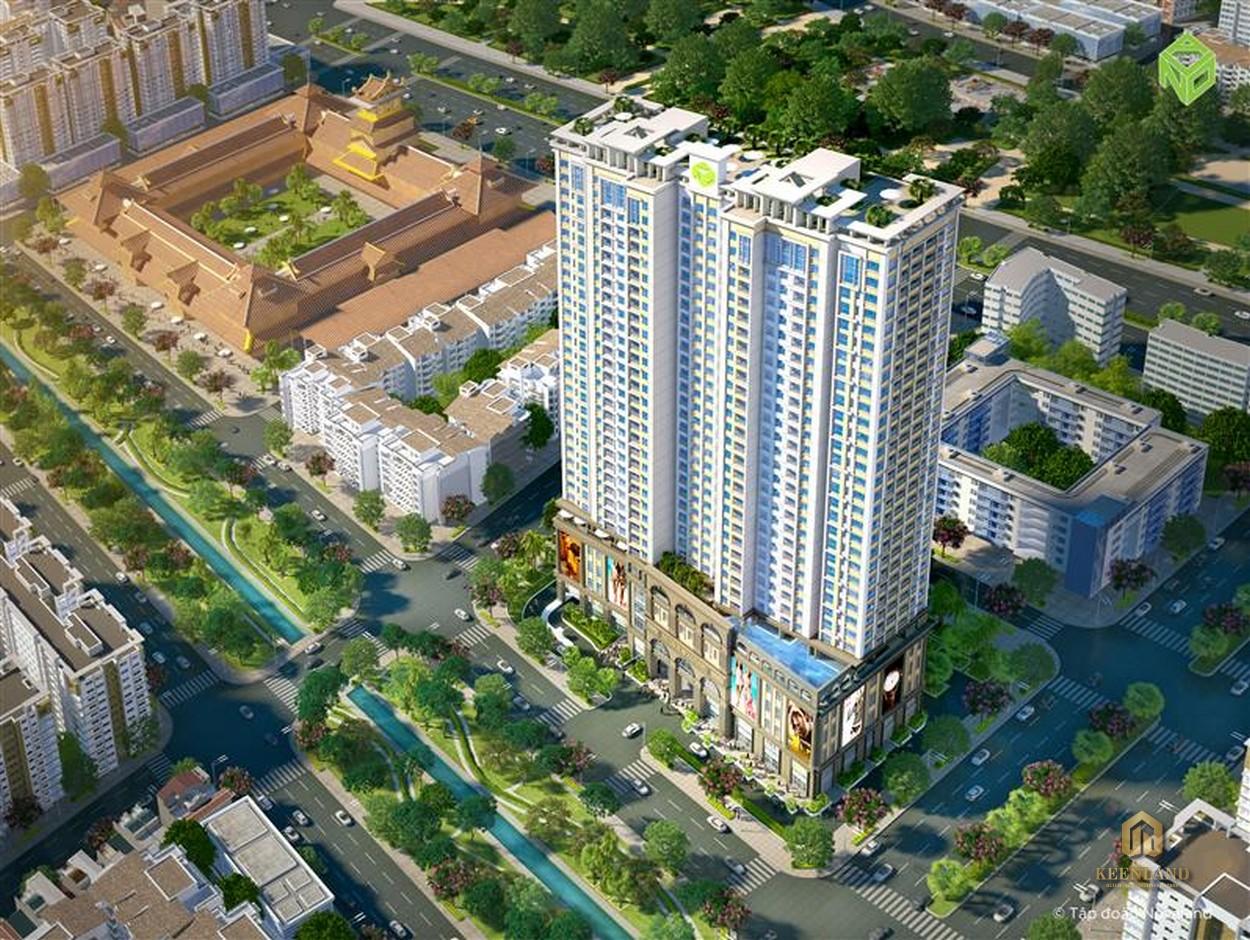 Phối cảnh dự án Lucky Palace từ trên cao