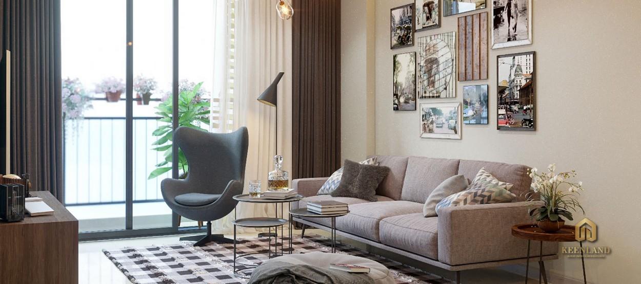Thiết kế phòng khách Tara Residence