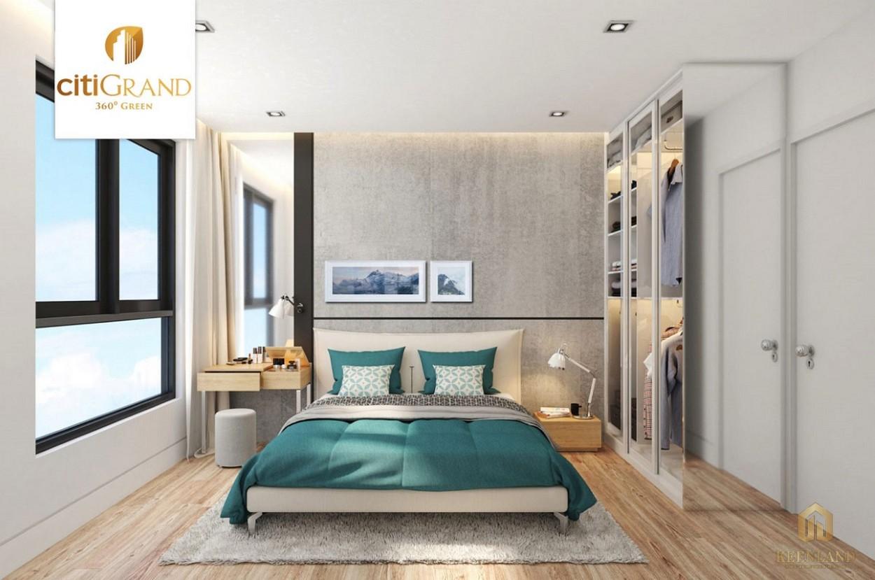 Phòng ngủ nhà mẫu căn hộ Citi Grand Quận 2