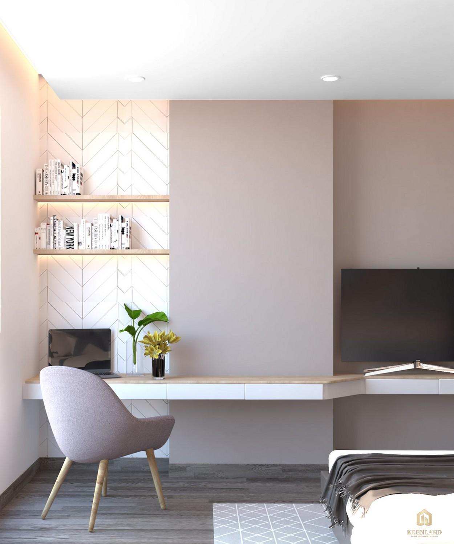 Phòng ngủ nhà mẫu dự án căn hộ Golden Grand quận 2