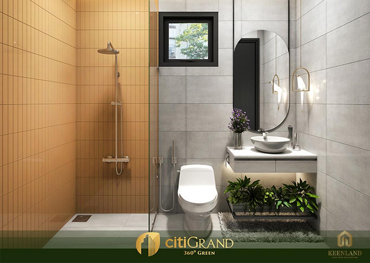 Phòng tắm nhà mẫu căn hộ Citi Grand Quận 2
