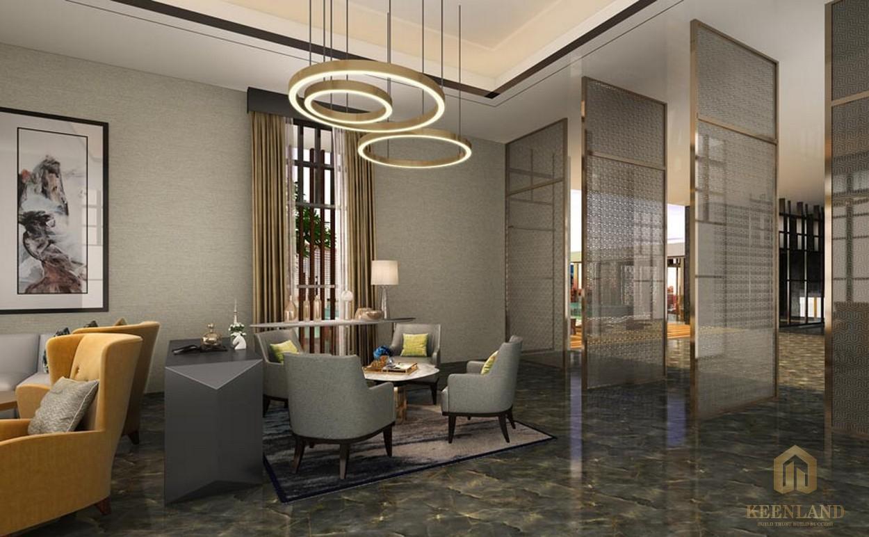Phòng tiếp khách trên không tại dự án căn hộ cao cấp D1 Mension