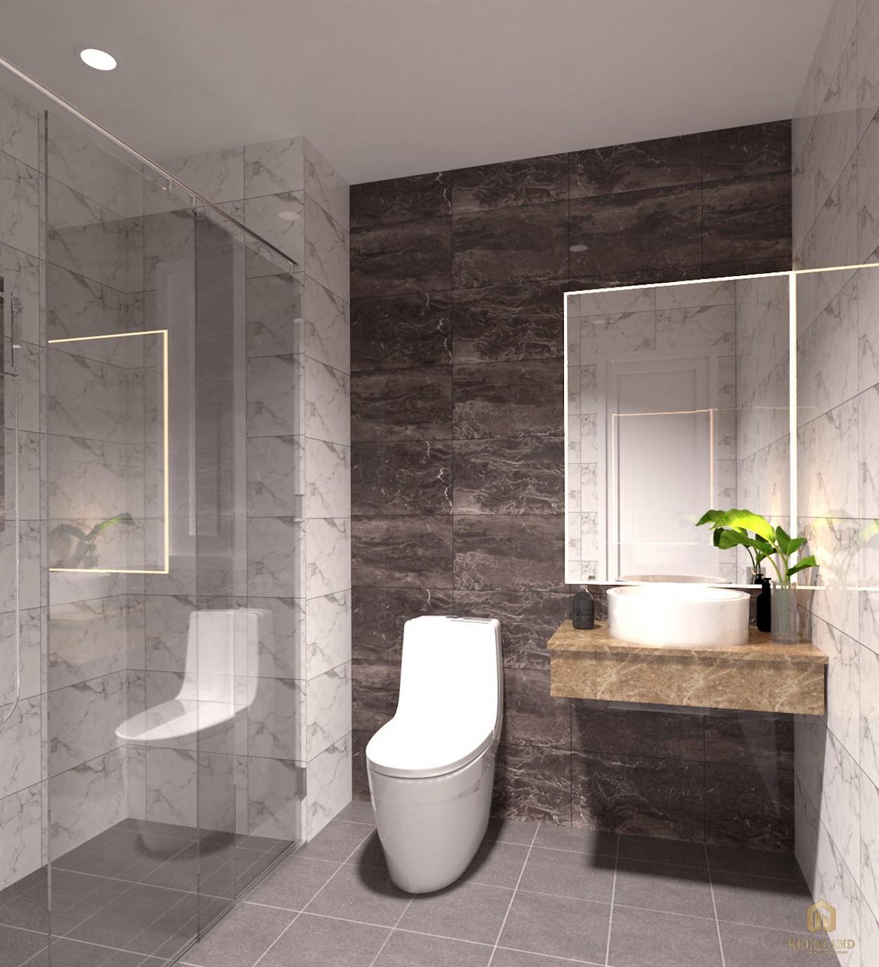 Phòng tắm nhà mẫu dự án căn hộ Golden Grand quận 2