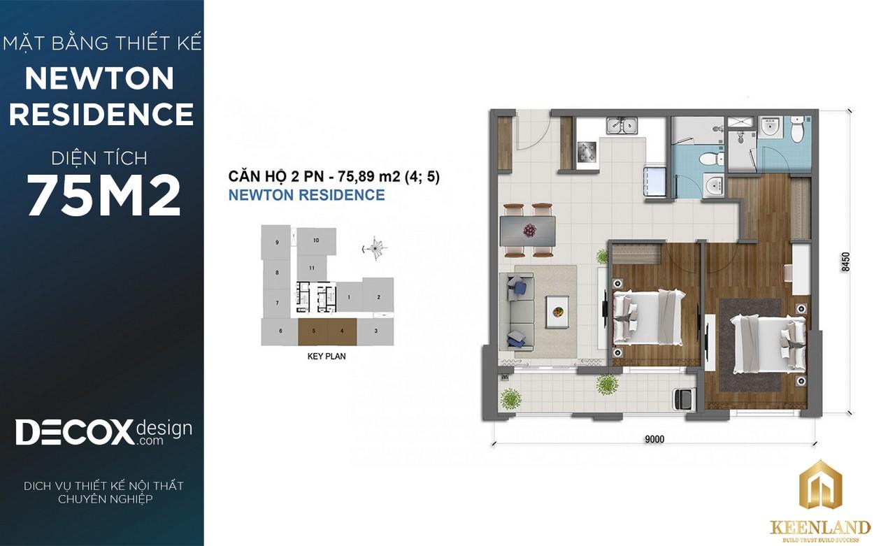 Mặt bằng thiết kế dự án Newton Residence