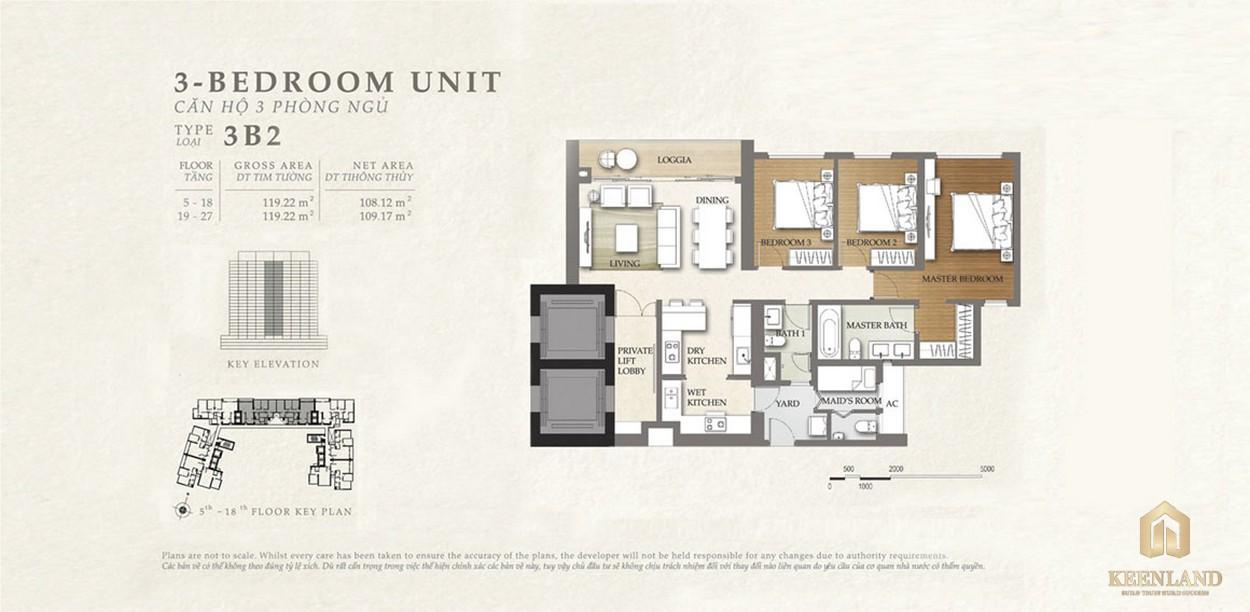 Thiết kế căn hộ 3B2 dự án Nassim Thảo Điền