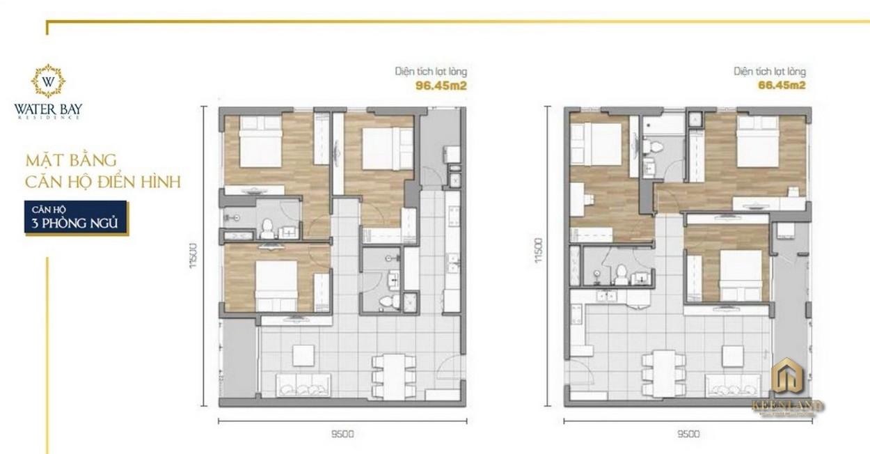 Thiết kế căn hộ 3PN dự án Water Bay quận 2 - Novaland