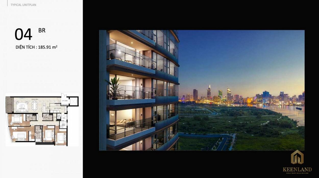Thiết kế căn 4PN dự án THE RIVER