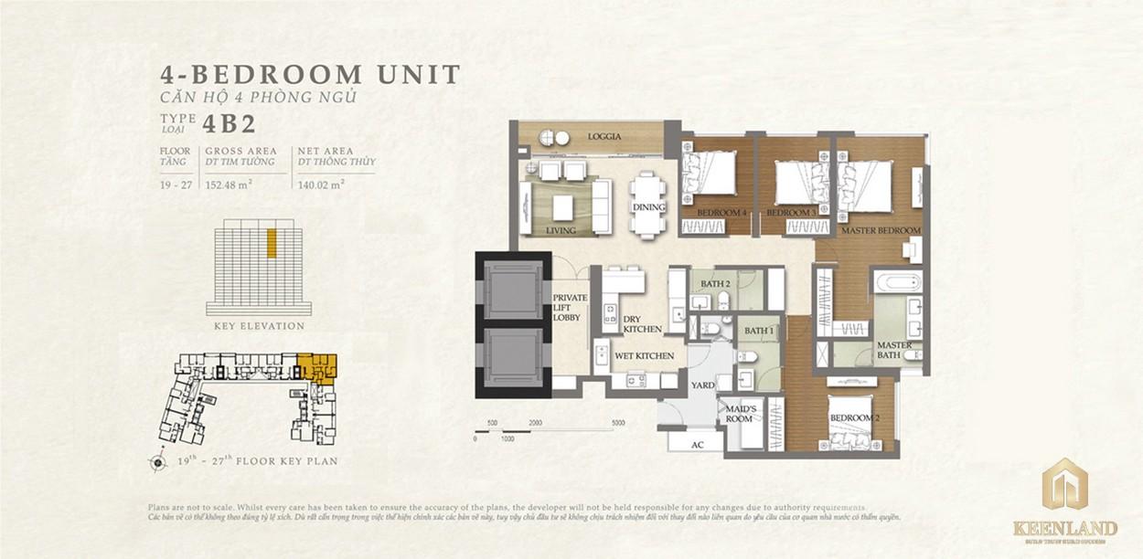 Thiết kế căn hộ 4B2 dự án Nassim Thảo Điền