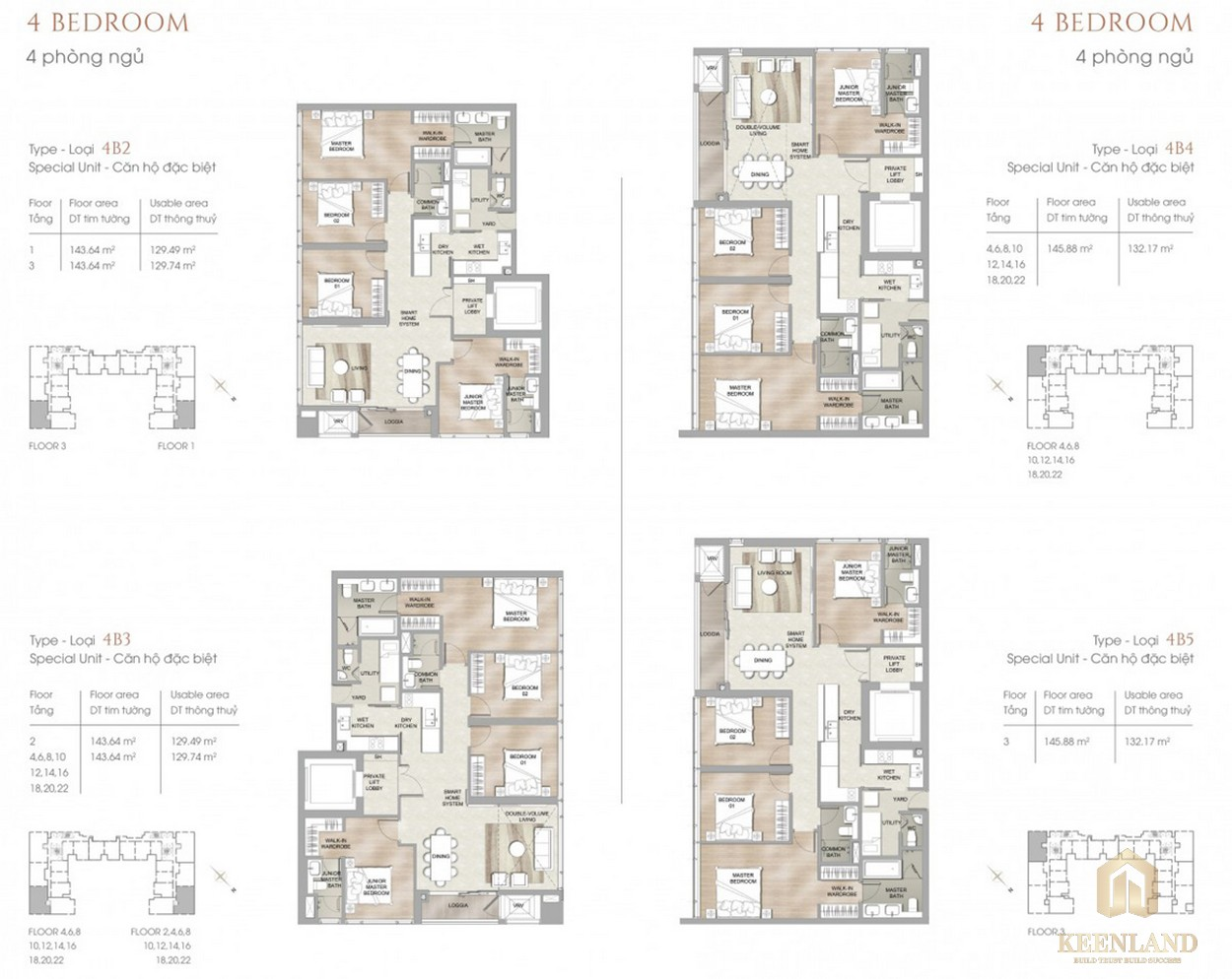 Thiết kế chi tiết căn hộ 4PN dự án chung cư cao cấp The Marq