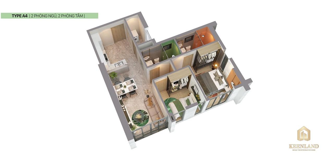 Thiết kế 3D căn hộ A4 dự án Citi Grand Quận 2