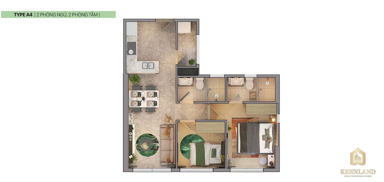 Thiết kế 2D căn hộ A4 dự án Citi Grand Quận 2