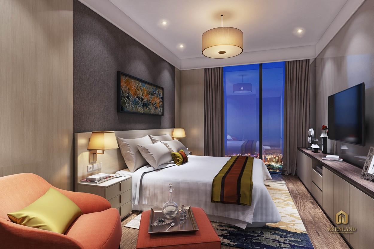 Phòng ngủ căn hộ mẫu Ascott Waterfront Saigon