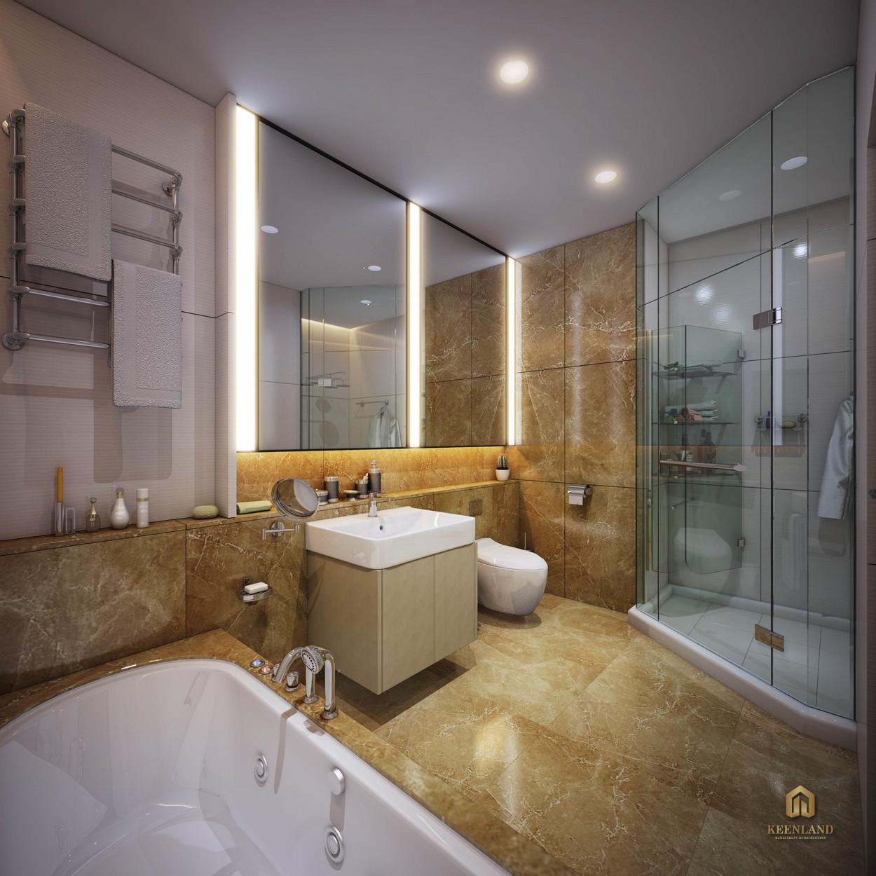 Phòng WC căn hộ mẫu Ascott Waterfront Saigon
