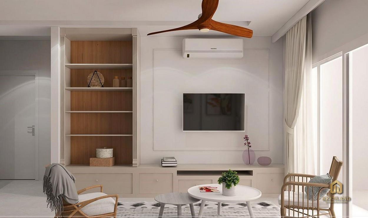 Phòng khách căn hộ mẫu Carrilon 3