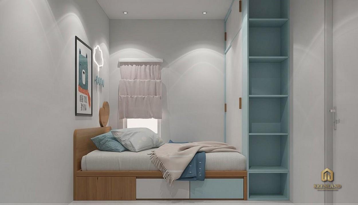Phòng ngủ căn hộ mẫu Carrilon 3