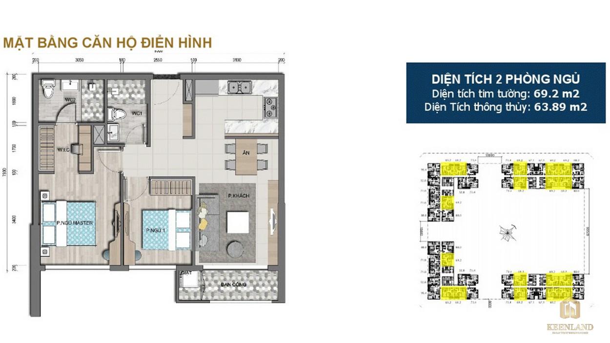 Thiết kế chi tiết căn hộ 2PN dự án Victoria Village Q2