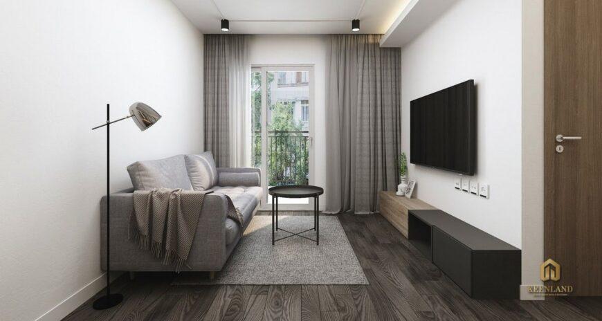 Phòng khách căn hộ mẫu chung cư Nguyễn Kim