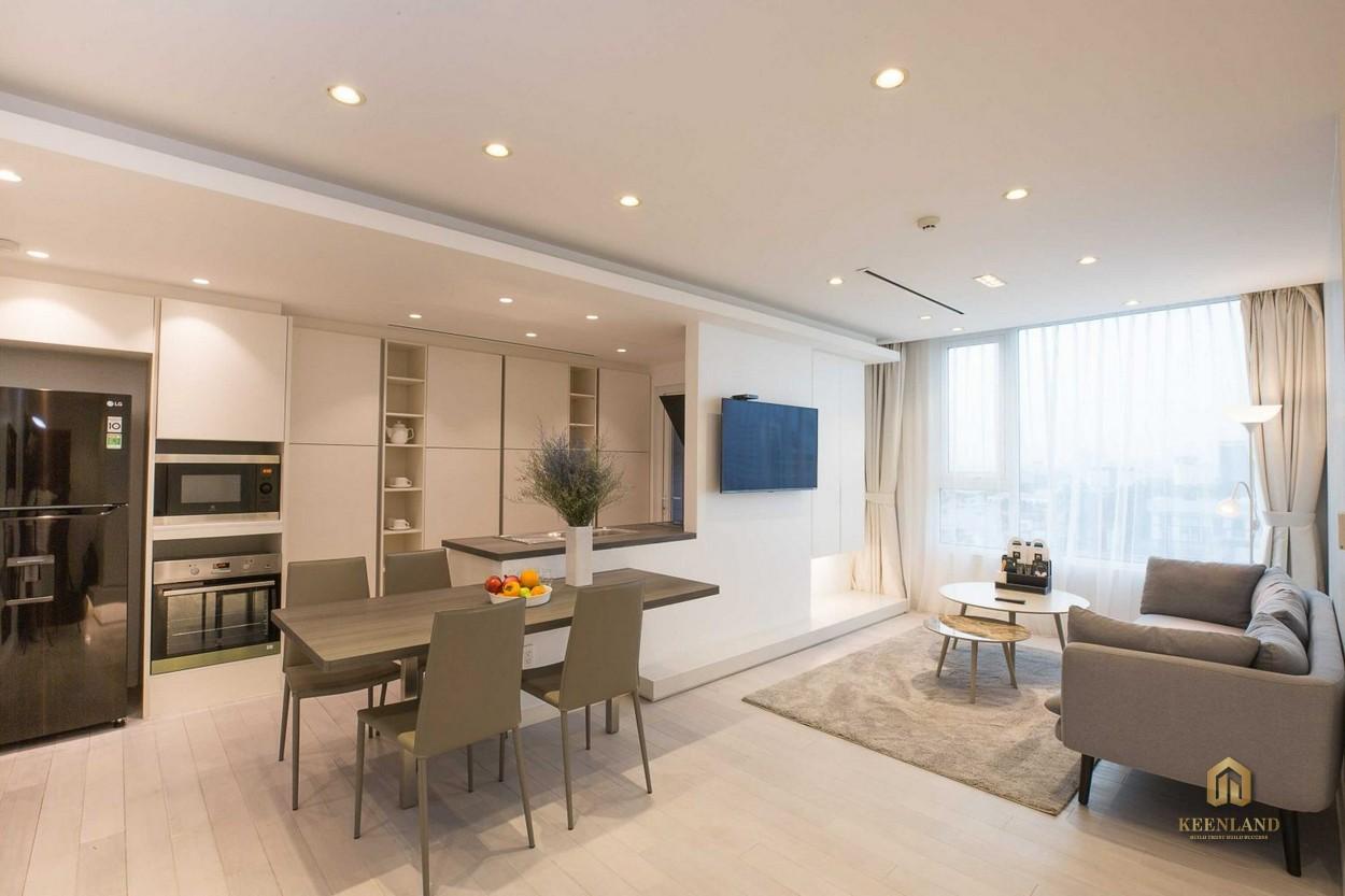 Thiết kế nhà bếp căn hộ Léman Luxury Apartment