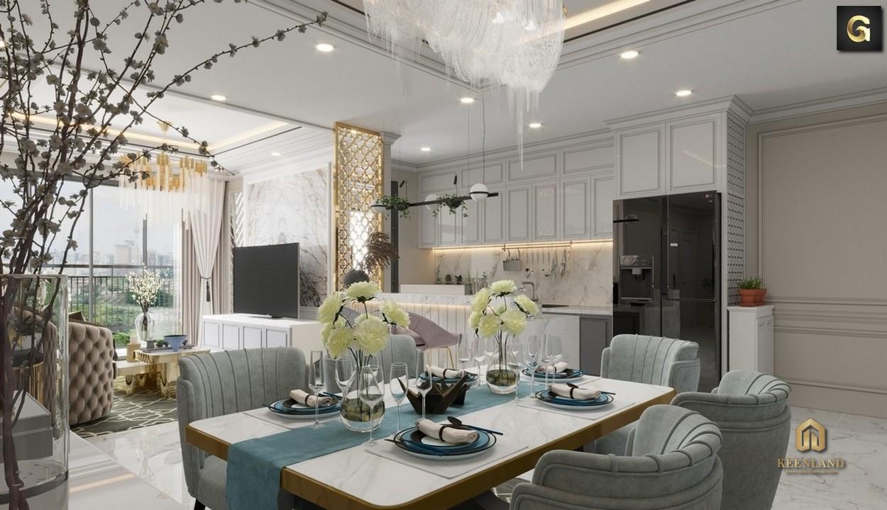 Thiết kế phòng ăn căn hộ Léman Luxury Apartment