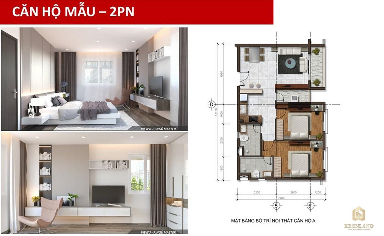 Thiết kế căn hộ mẫu 2 PN Golden Grand quận 2