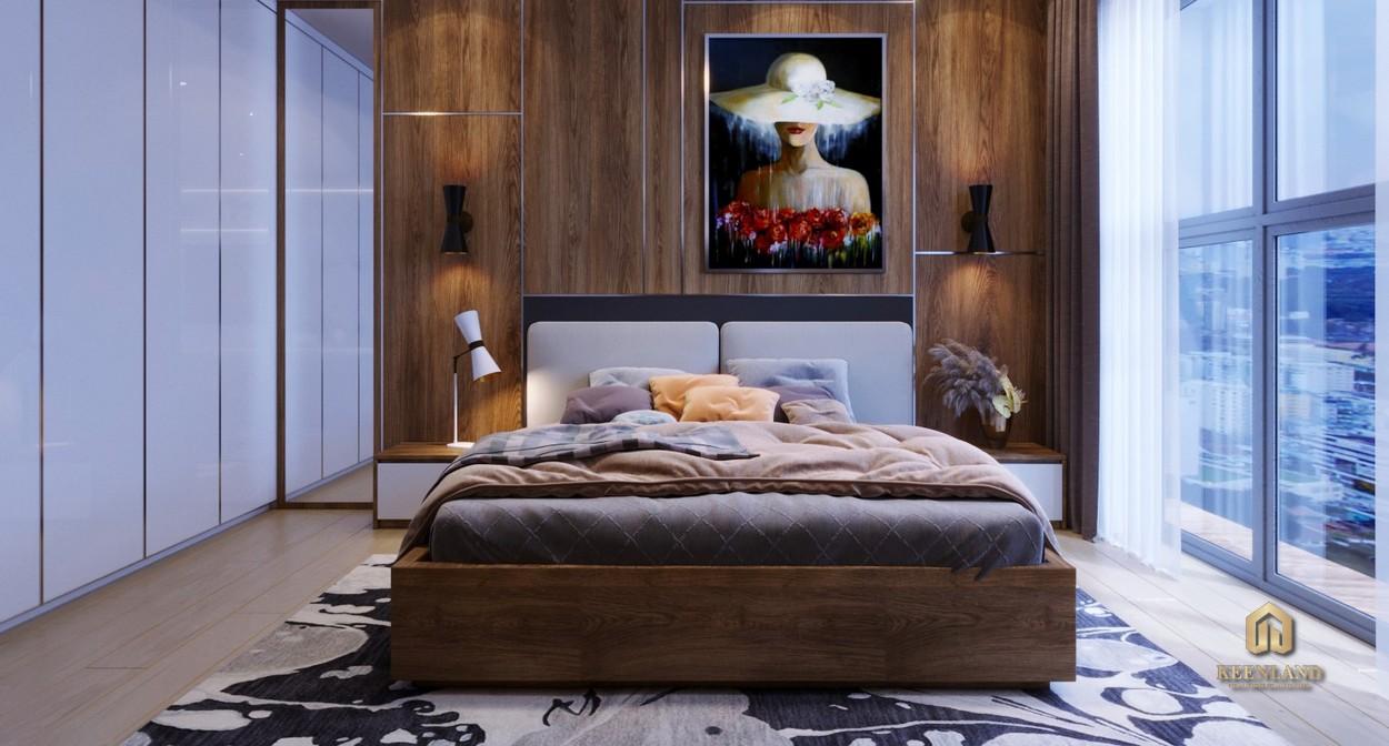 Thiết kế phòng ngủ căn hộ mẫu New Pearl Residence Quận 3