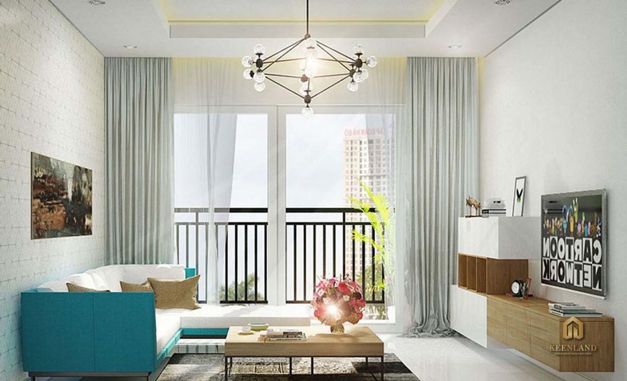 Phòng khách căn hộ mẫu Palacio Garden Tân Bình