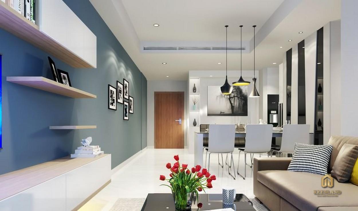 Phòng khách căn hộ Rivera Park Saigon