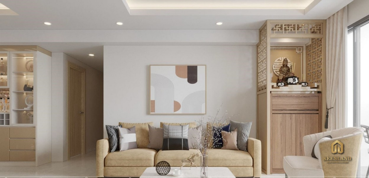 Thiết kế phòng khách căn hộ Tam Đức Plaza