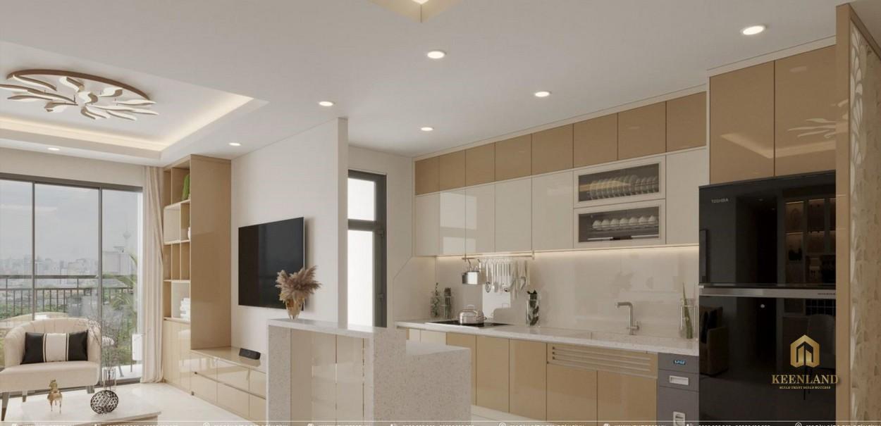 Thiết kế gian bếp căn hộ Tam Đức Plaza