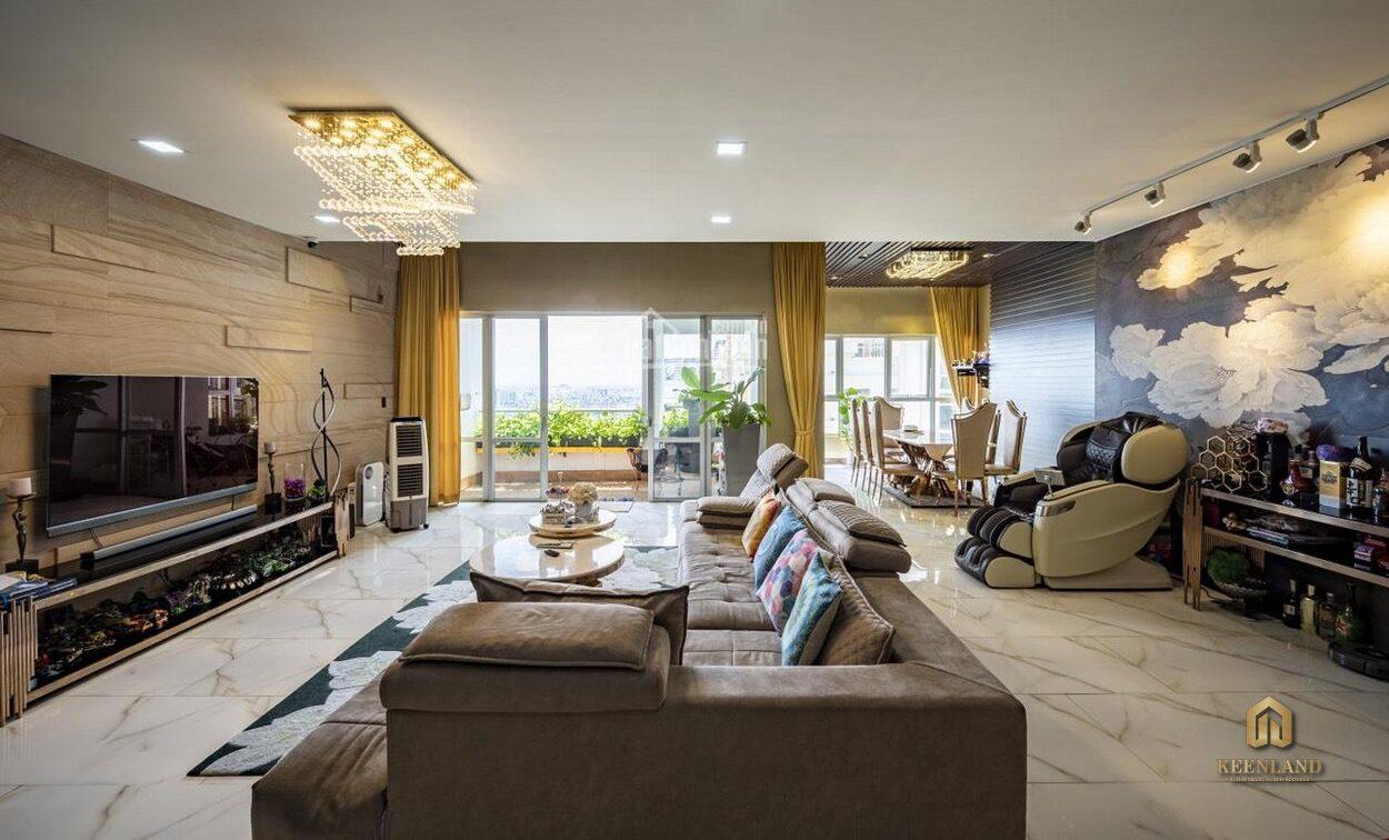 Phòng khách căn hộ mẫu The Flemington