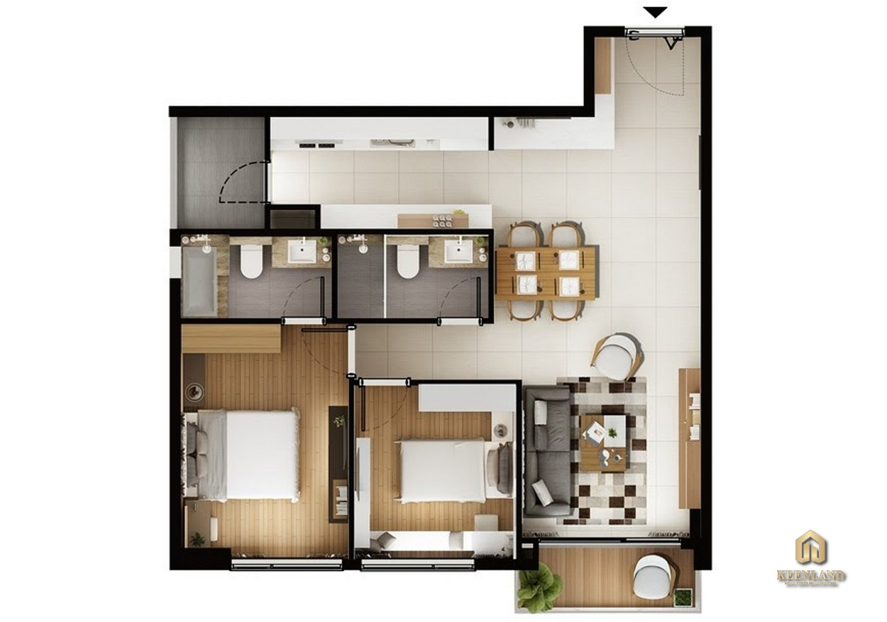 Thiết kế chi tiết căn hộ A2