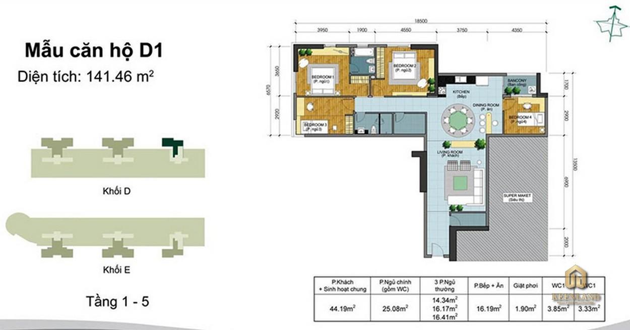 Thiết kế chi tiết căn hộ Belleza Apartment