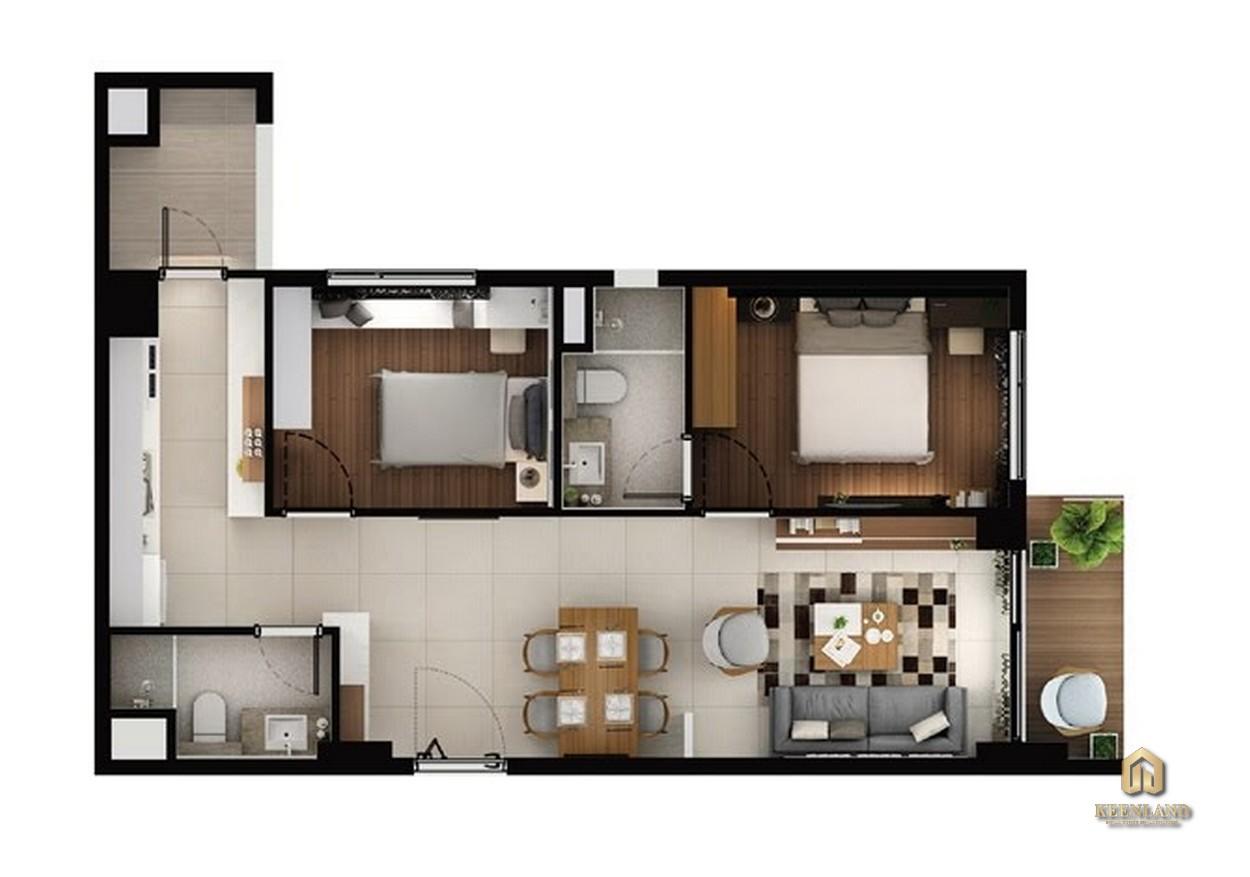 Thiết kế chi tiết căn hộ C1