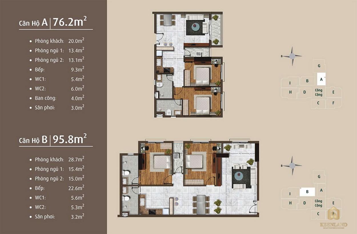 Thiết kế chi tiết căn hộ A - B dự án Golden Grand quận 2