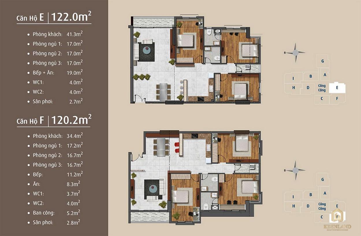Thiết kế chi tiết căn hộ E - F dự án Golden Grand quận 2