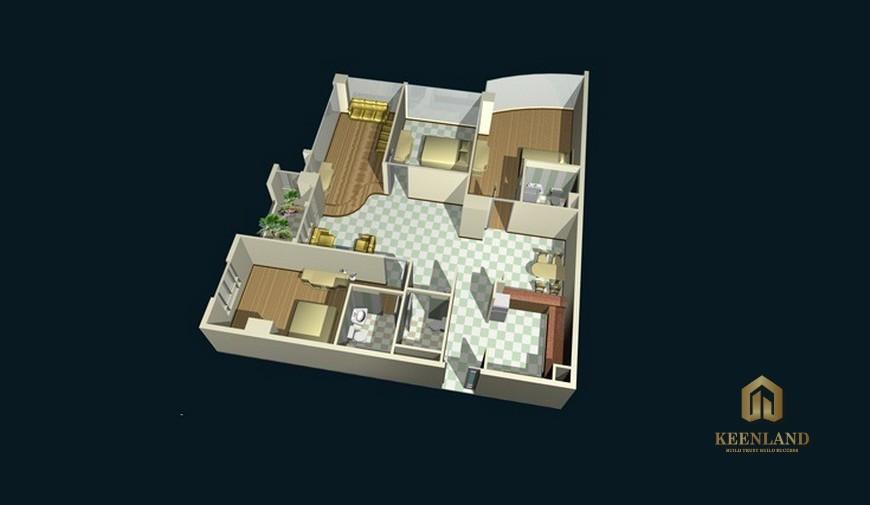 Thiết kế chi tiết căn hộ chung cư Khánh Hội 1