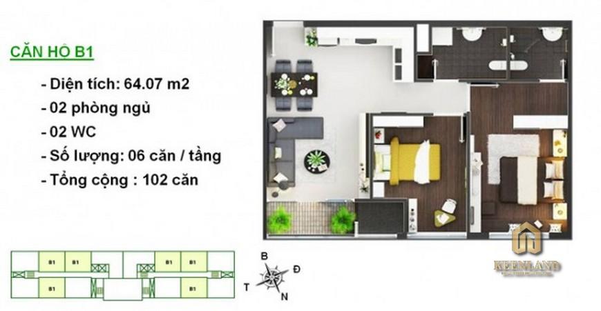 Thiết kế chi tiết căn hộ Lotus Apartment