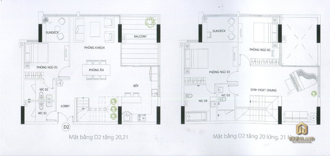 Thiết kế chi tiết căn hộ penthouse D2