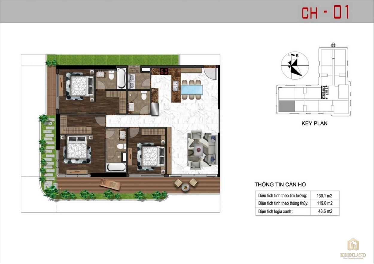 Thiết kế căn hộ 1 dự án Sunshine Tower