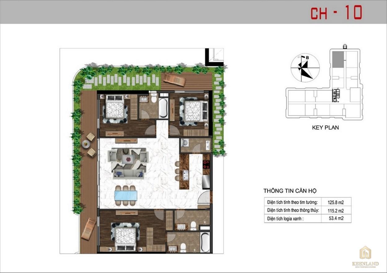 Thiết kế căn hộ 10 dự án Sunshine Tower