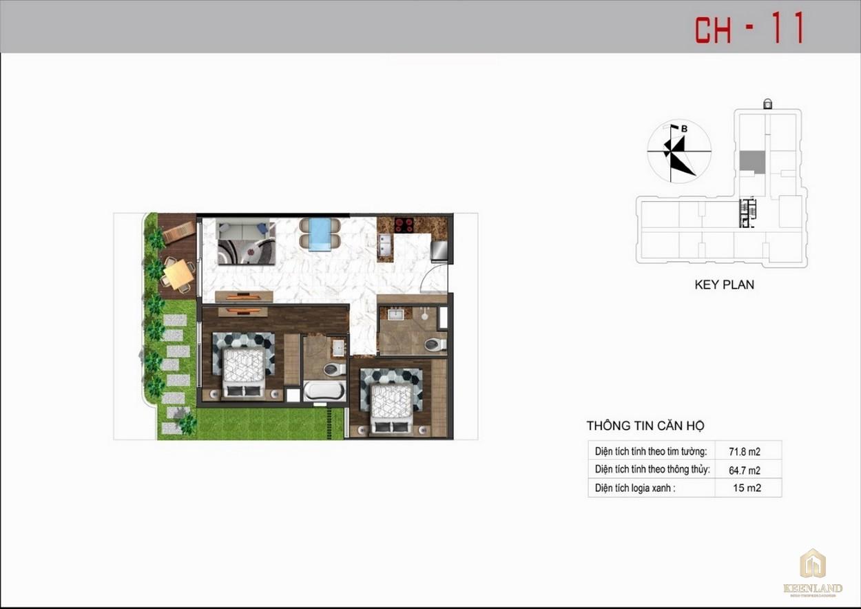 Thiết kế căn hộ 11 dự án Sunshine Tower