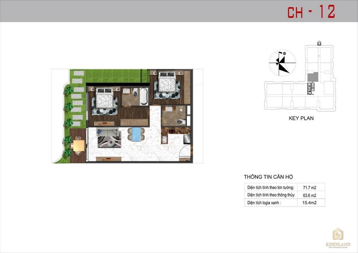 Thiết kế căn hộ 12 dự án Sunshine Tower