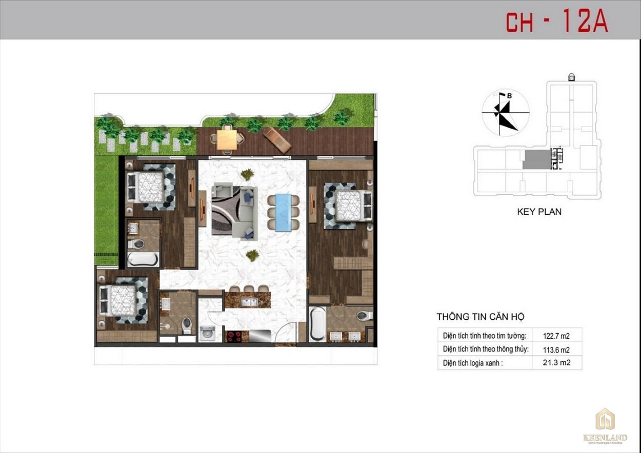 Thiết kế căn hộ 12A dự án Sunshine Tower