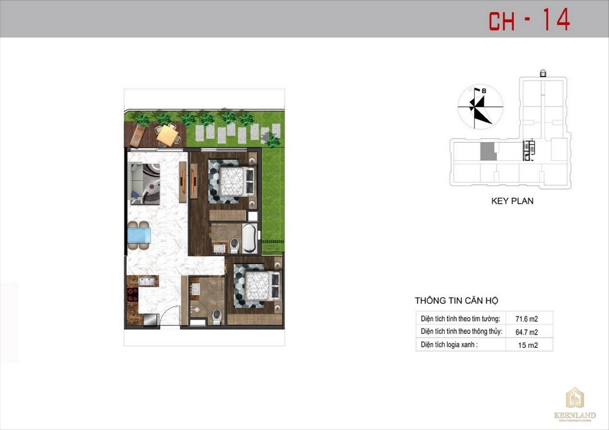 Thiết kế căn hộ 14 dự án Sunshine Tower