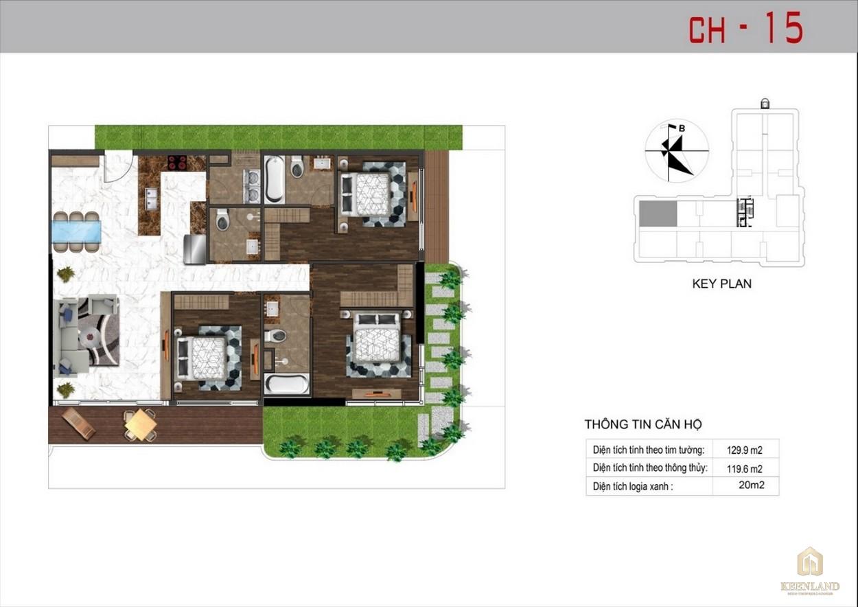 Thiết kế căn hộ 15 dự án Sunshine Tower