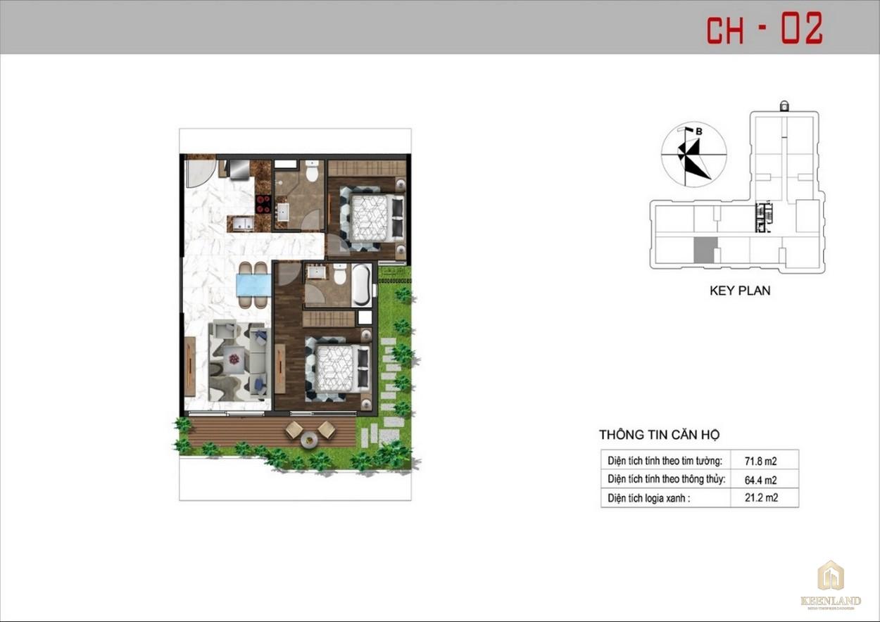 Thiết kế căn hộ 2 dự án Sunshine Tower