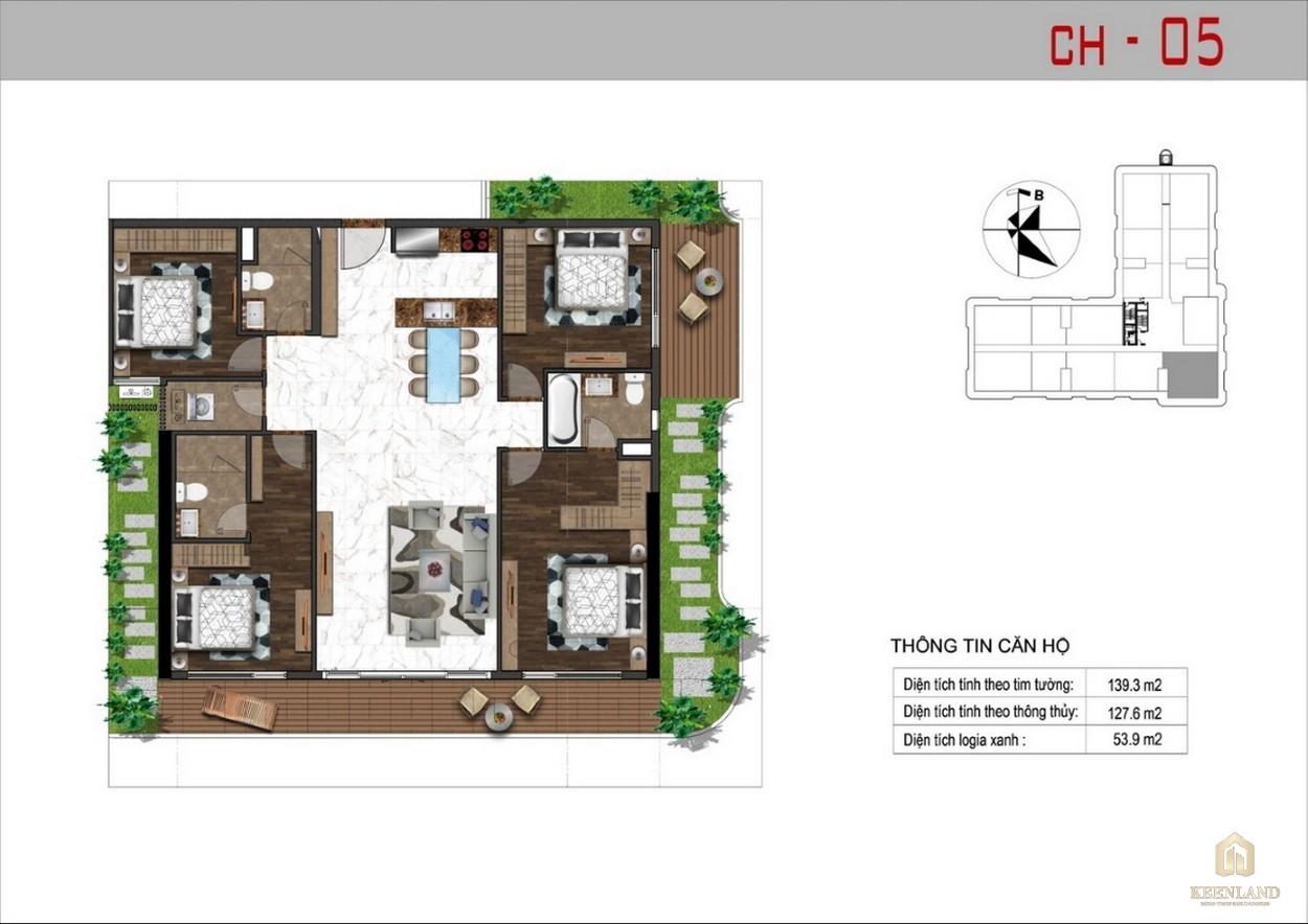 Thiết kế căn hộ 5 dự án Sunshine Tower